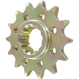 Vortex Front Steel Sprocket - 2008 Kawasaki ZX600 - Ninja ZX-6R Vortex Sprocket & Chain Kit 520 - Black