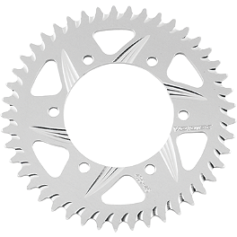 Vortex Rear Sprocket - Silver - 2008 Kawasaki EX650 - Ninja 650R Vortex Sprocket & Chain Kit 520 - Silver