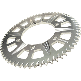 Vortex Stunt Rear Sprocket 60 Tooth - 2008 Kawasaki EX650 - Ninja 650R Vortex Rear Sprocket - Silver