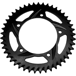 Vortex Rear Sprocket For Marchesini Wheels - Black - 1999 Suzuki GSX600F - Katana Vortex Sprocket & Chain Kit 530 - Silver
