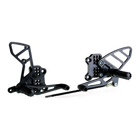 Vortex Adjustable Complete Rearset - Black - Main