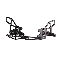 Vortex Adjustable V2 Rearset - Black - Militant Moto Barrier Bar - Black