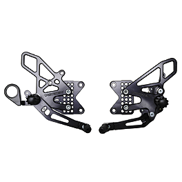 Vortex Adjustable V2 Rearset - Black - 2011 BMW S1000RR Driven Racing D-Axis Rearset - Black