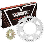 Vortex Sprocket & Chain Kit 525 - Silver