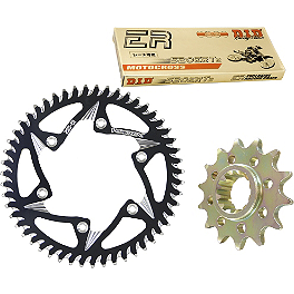 Vortex Chain & Sprocket Kit - 2001 Kawasaki KX125 Sunstar Chain & Works Z Sprocket Combo