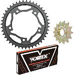 Vortex 520 Steel Sprocket & Chain Kit - Honda Dirt Bike Drive