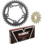 Vortex 525 Steel Sprocket & Chain Kit - Vortex Motorcycle Parts