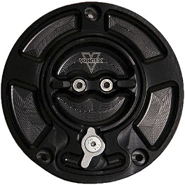 Vortex V3 Fuel Cap - 2008 Kawasaki EX650 - Ninja 650R Vortex Sprocket & Chain Kit 520 - Black