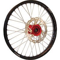 Warp 9 Complete Front Wheel 1.60X21 - Red/Black