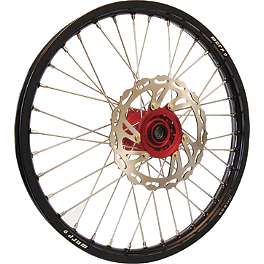 Warp 9 Complete Front Wheel 1.60X21 - Red/Black - DNA Specialty Rear Wheel 2.15X18 - Red/Black