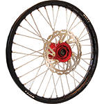 Warp 9 Complete Front Wheel 1.60X21 - Red/Black - Applied Dirt Bike Complete Wheels