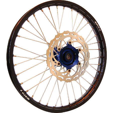 Warp 9 Complete Front Wheel 1.60X21 - Blue/Black - Main