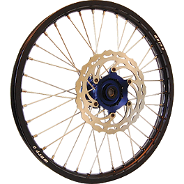 Warp 9 Complete Front Wheel 1.60X21 - Blue/Black - Warp 9 Complete Rear Wheel 2.15X19 - Orange/Black
