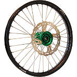 Warp 9 Complete Front Wheel 1.60X21 - Green/Black - Applied Dirt Bike Complete Wheels