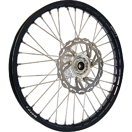 Warp 9 Complete Front Wheel 1.60X21 - Silver/Black - 2004 KTM 200SX DNA Specialty Front Wheel 1.60X21 - Black/Black
