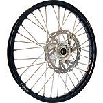 Warp 9 Complete Front Wheel 1.60X21 - Silver/Black - Applied Dirt Bike Complete Wheels