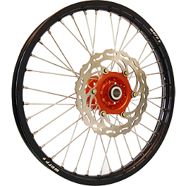 Warp 9 Complete Front Wheel 1.60X21 - Orange/Black - 2003 KTM 525MXC DNA Specialty Rear Wheel 2.15X18 - Black/Orange
