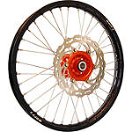 Warp 9 Complete Front Wheel 1.60X21 - Orange/Black - Applied Dirt Bike Complete Wheels