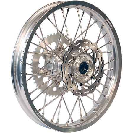 Warp 9 Complete Rear Wheel 2.15X19 - Silver/Silver - Main