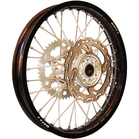 Warp 9 Complete Rear Wheel 2.15X19 - Silver/Black - Main
