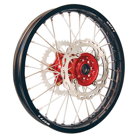 Warp 9 Complete Rear Wheel 2.15X19 - Red/Black - Main