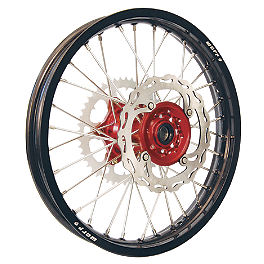 Warp 9 Complete Rear Wheel 2.15X19 - Red/Black - Warp 9 Complete Front Wheel 1.60X21 - Red/Black