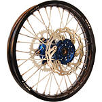 Warp 9 Complete Rear Wheel 2.15X19 - Blue/Black - Warp 9 Dirt Bike Complete Wheels