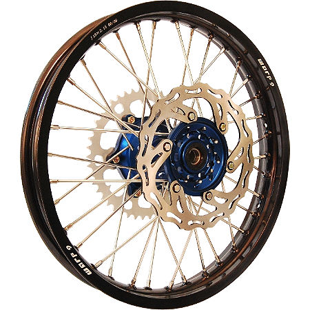 Warp 9 Complete Rear Wheel 2.15X19 - Blue/Black - Main