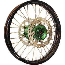 Warp 9 Complete Rear Wheel 2.15X19 - Green/Black - 2007 Kawasaki KX250 DNA Specialty Rear Wheel 2.15X19 - Black/Green