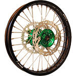 Warp 9 Complete Rear Wheel 2.15X19 - Green/Black - Applied Dirt Bike Complete Wheels