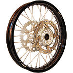 Warp 9 Complete Rear Wheel 2.15X18 - Silver/Black - Warp 9 Dirt Bike Complete Wheels