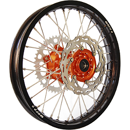Warp 9 Complete Rear Wheel 2.15X18 - Orange/Black - 1999 KTM 380MXC Warp 9 Complete Rear Wheel 2.15X18 - Orange/Black