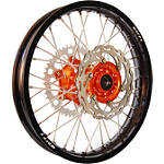 Warp 9 Complete Rear Wheel 2.15X18 - Orange/Black - Applied Dirt Bike Complete Wheels