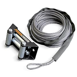 Warn Rope With Fairlead - 2.5/3.0 - Moose Winch Synthetic Rope - 3/16