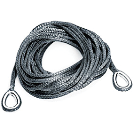 Warn Synthetic Rope Extension - 50 Feet - Warn Rope With Fairlead - 2.5/3.0