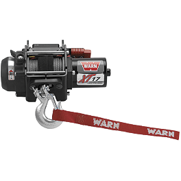 Warn XT17 Portable Winch-Controls On Vehicle - 2005 Polaris ATP 330 4X4 Warn Front Bumper