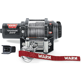 Warn Vantage 2000 Winch - 2012 Kawasaki BRUTE FORCE 750 4X4i (IRS) Warn Front A-Arm Body Armor
