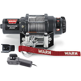 Warn Vantage 3000 Winch - 2007 Kawasaki BRUTE FORCE 650 4X4 (SOLID REAR AXLE) Warn Winch Mounting System