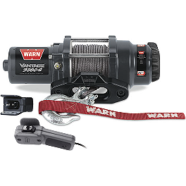 Warn Vantage 3000-S Winch - 2000 Polaris MAGNUM 325 4X4 Warn Winch Mounting System