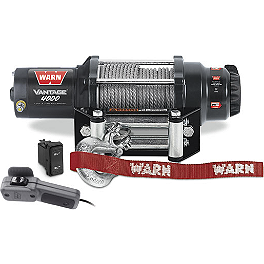 Warn Vantage 4000 Winch - 2004 Polaris SPORTSMAN 700 4X4 Warn Front Bumper