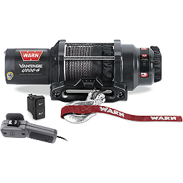 Warn Vantage 4000-S Winch - 2003 Yamaha KODIAK 400 2X4 Warn Winch Mounting System