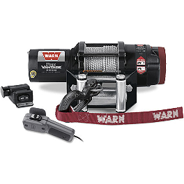 Warn ProVantage 3500 Winch - 1997 Polaris XPLORER 300 4X4 Warn Front Bumper