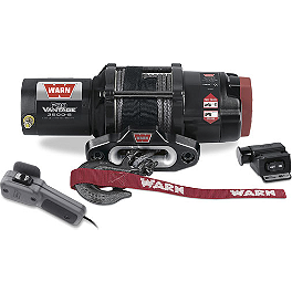 Warn ProVantage 3500-S Winch - 2012 Kawasaki BRUTE FORCE 750 4X4i (IRS) Warn Front A-Arm Body Armor