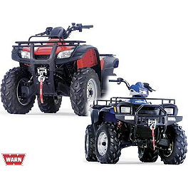 Warn Winch Mounting System - 2003 Polaris SPORTSMAN 600 4X4 Moose Plow Push Tube Bottom Mount
