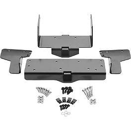 Warn Winch Mounting System - 2010 Kawasaki BRUTE FORCE 650 4X4 (SOLID REAR AXLE) Moose Plow Push Tube Bottom Mount