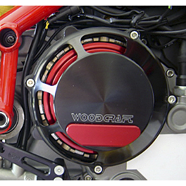 Woodcraft Clutch Cover - 2006 Ducati 999 Woodcraft Complete Rearset Kit
