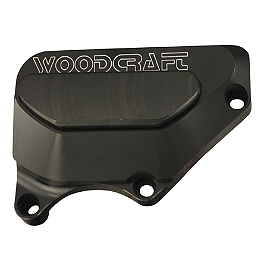 Woodcraft Clutch Cover Protector - 2004 Honda CBR600RR Woodcraft Aluminum Shift Rod