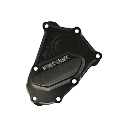 Woodcraft Crank Cover - 2011 BMW S1000RR Woodcraft 3-Piece Brake Pedal