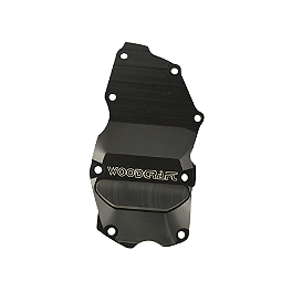 Woodcraft Ignition Trigger Cover - 2009 Triumph Daytona 675 Woodcraft 3-Piece Brake Pedal
