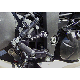 Woodcraft Rearset Kit With Brake Pedal - 2012 Kawasaki ZX600 - Ninja ZX-6R Woodcraft 3-Piece Brake Pedal